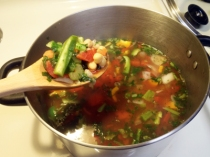 Boiling Mixed Vegetables